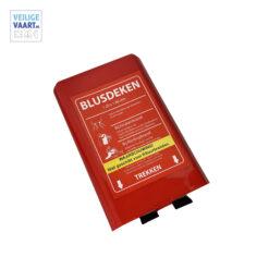 Veilige vaart blusdeken 120x180 hardcase, Brandblusdeken met harde doos