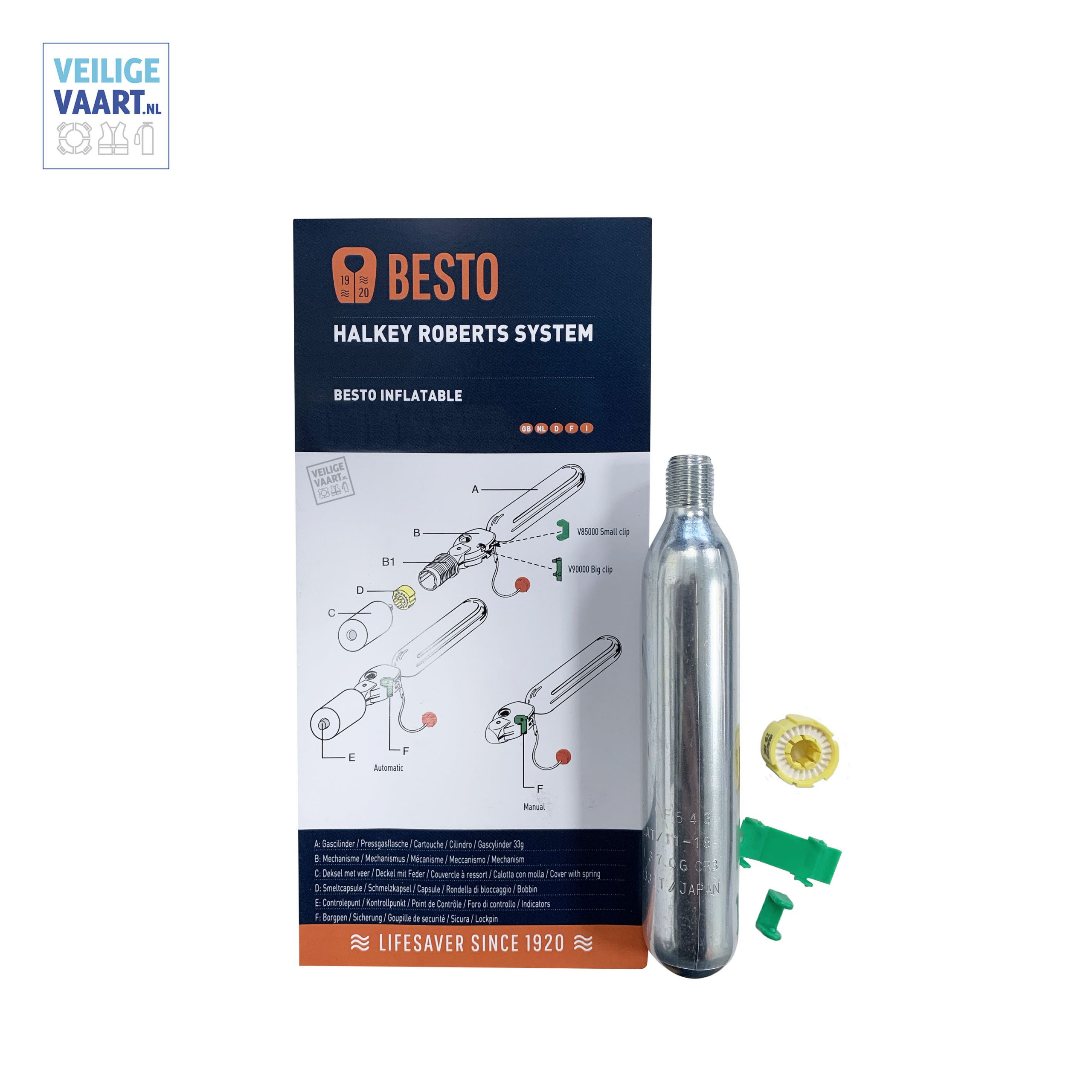 besto re-arming cylinder