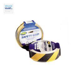 Antislip tape zwart/geel, Veiligheidstape tegen uitglijden