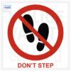 don't step pictogram